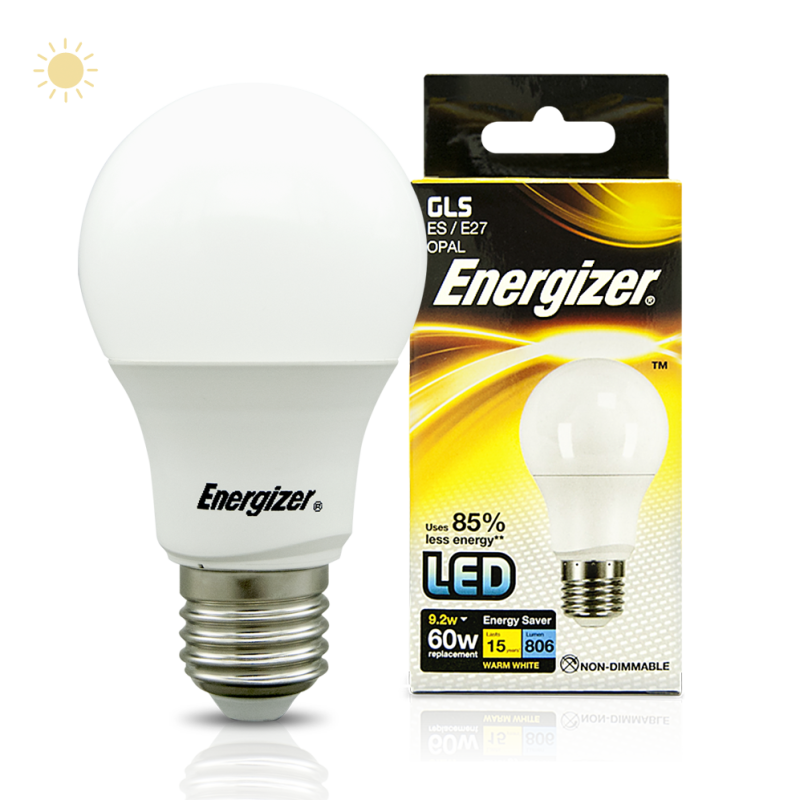 energizer led gls 9 2w 60w e27 806lm warm white shooting technologies. Black Bedroom Furniture Sets. Home Design Ideas