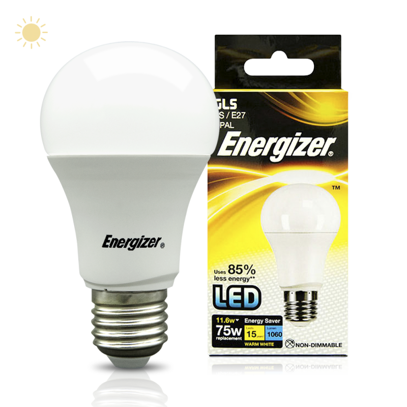energizer led gls 11 6w 75w e27 1060lm warm white shooting technologies. Black Bedroom Furniture Sets. Home Design Ideas